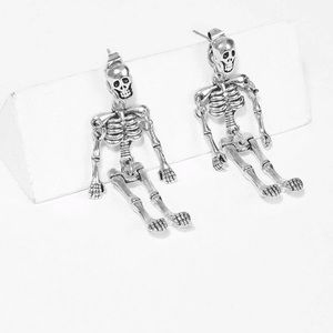 Coming Soon > Skeleton Shaped Drop Earrings: